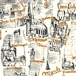 Kress´sche Karte von Nürnberg mit Landwehr