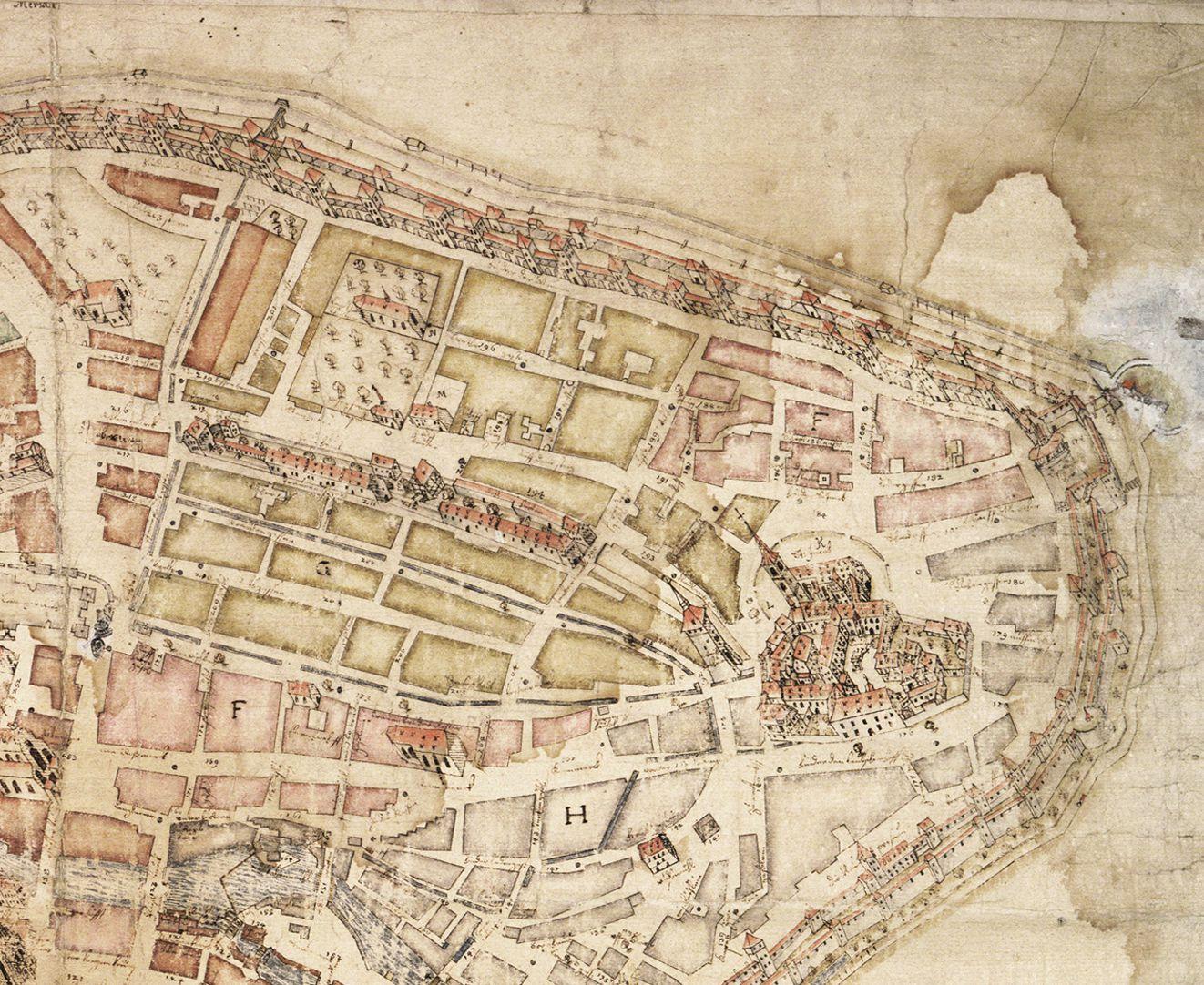 """""""Diese Stadt Nürnberg in ihrer Ringmauern....."""" rechtes oberes Kartenviertel"""