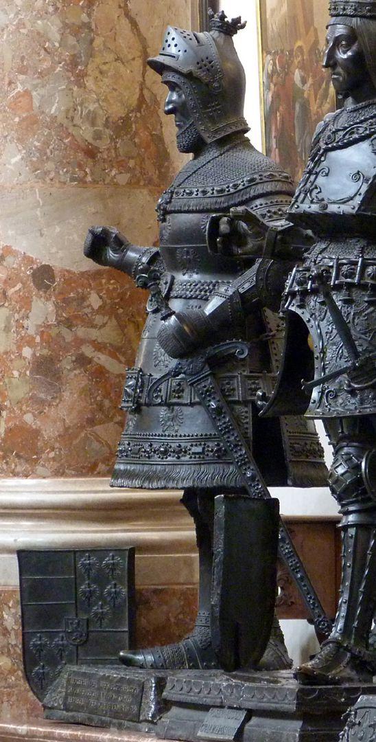 Albrecht II. der Weise (Innsbruck) linkes Figurenprofil