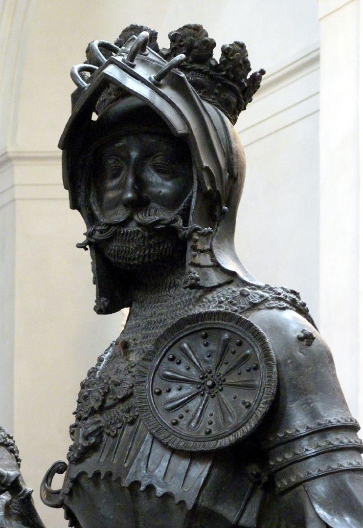 Albrecht von Habsburg (Innsbruck) Büste mit frontaler Rosette auf dem Brustpanzer