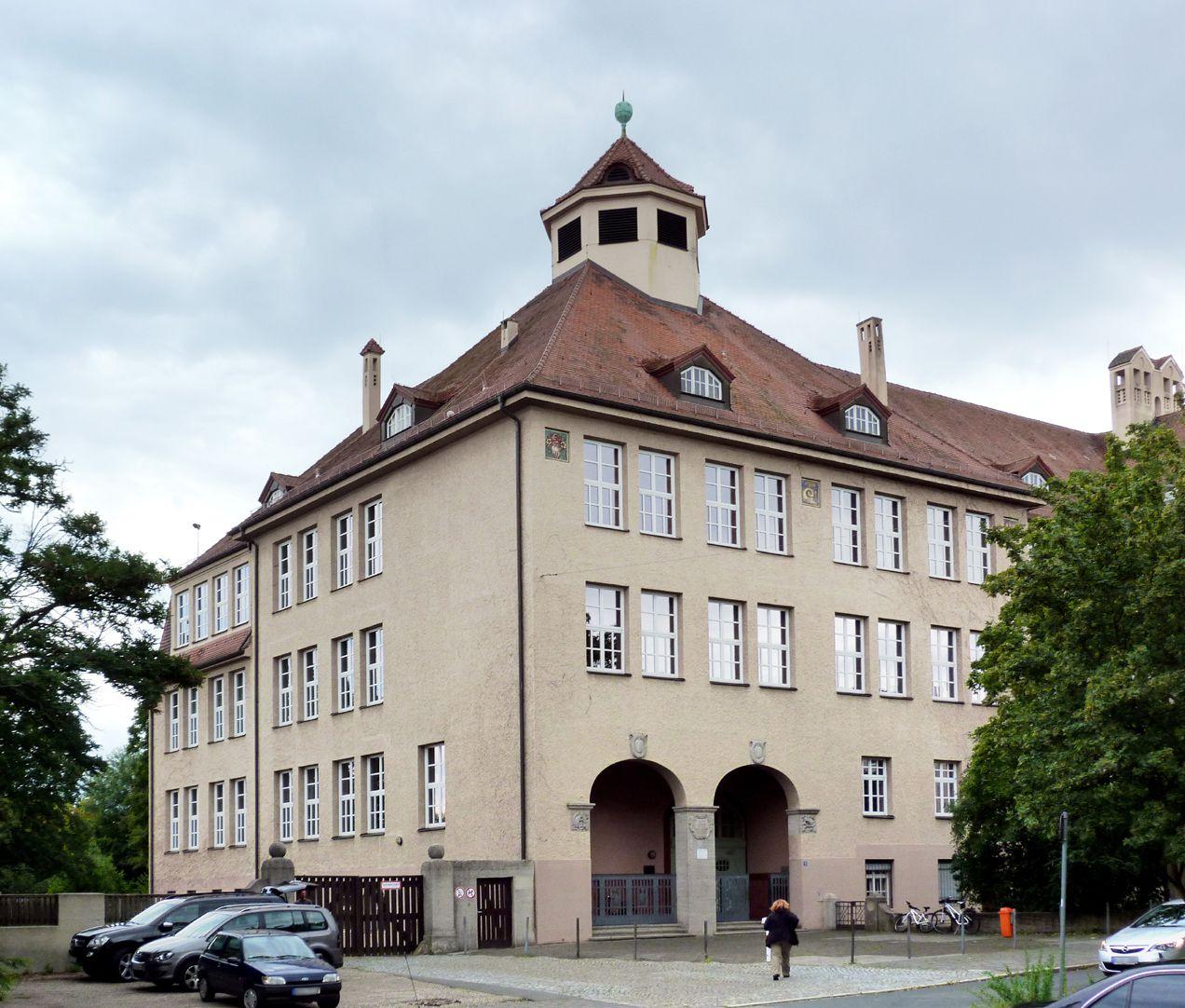 Georg-Paul-Amberger-Schule Eckbau, Eingang, Ansicht von Norden