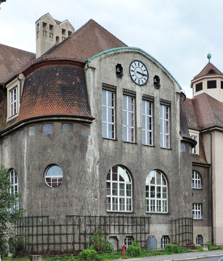 Georg-Paul-Amberger-Schule Mittelpavillon, Ansicht von Norden