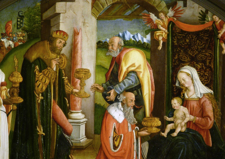 Anbetung der Könige Szenenmitte