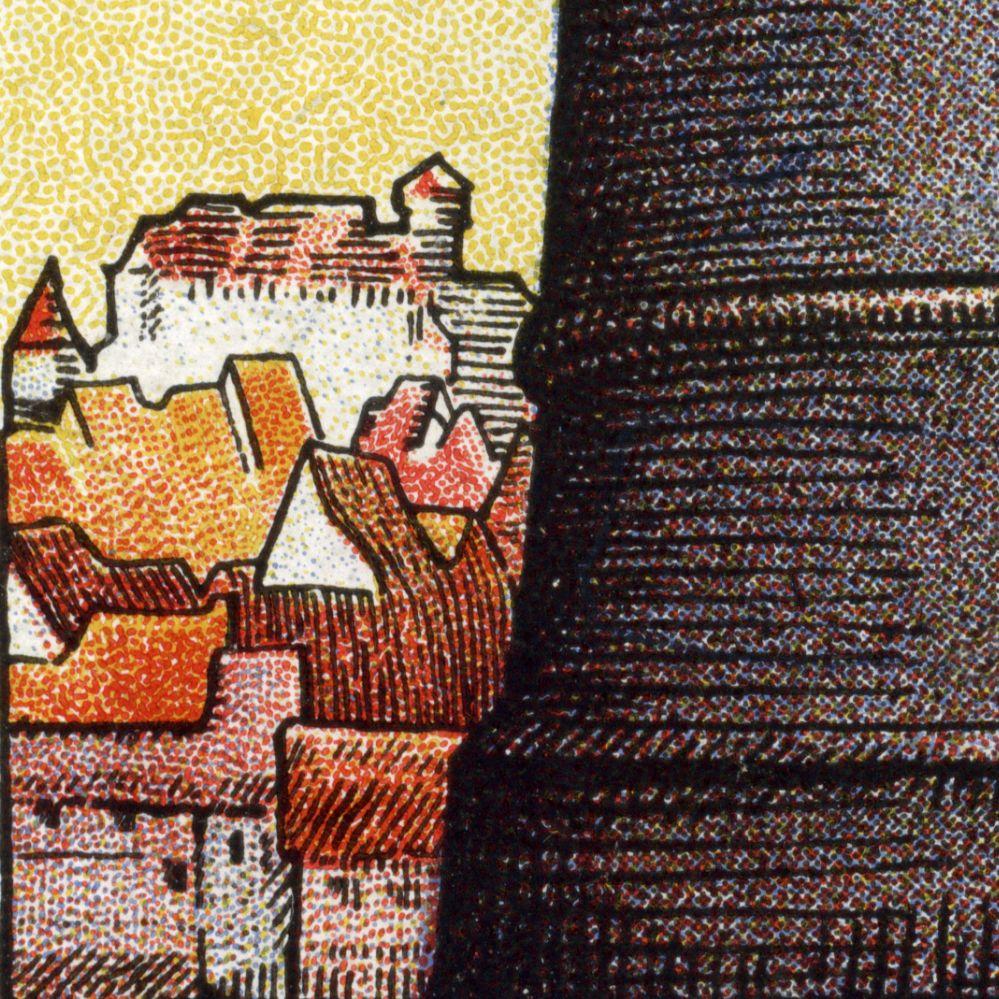 So steht im Vertrauen der Bevölkerung die Nürnberger Sparkasse links: Stadtansicht mit Burg