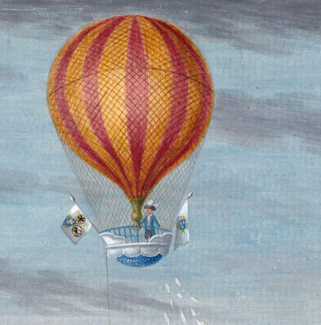 Die Auffahrt des Luftschiffers Blanchard vom Judenbühl Ballon