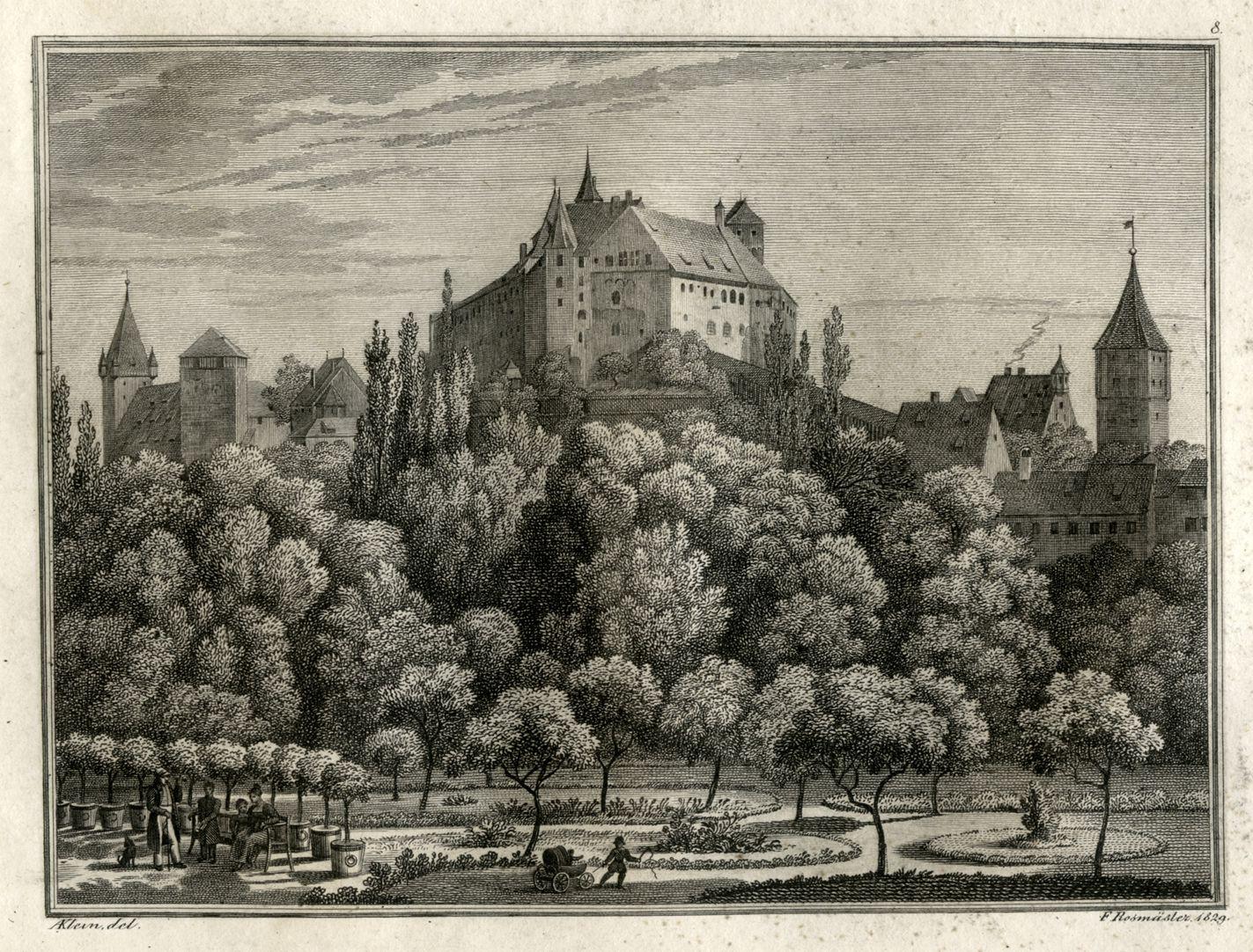 Ansicht der Burg zu Nürnberg Gesamtansicht