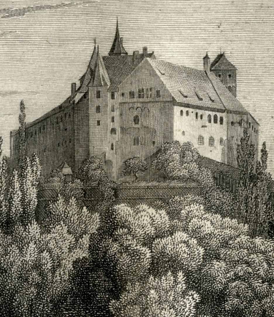 Ansicht der Burg zu Nürnberg Burgansicht von Westen