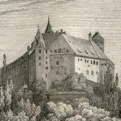 Ansicht der Burg zu Nürnberg
