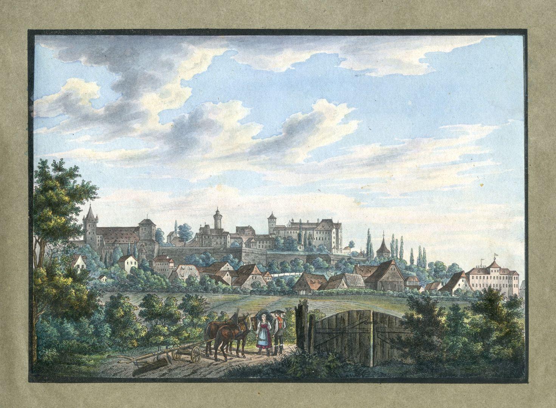 """Ansichten von Nürnberg und seinen Umgebungen """"Die Burg von Nürnberg von der Nordseite"""""""