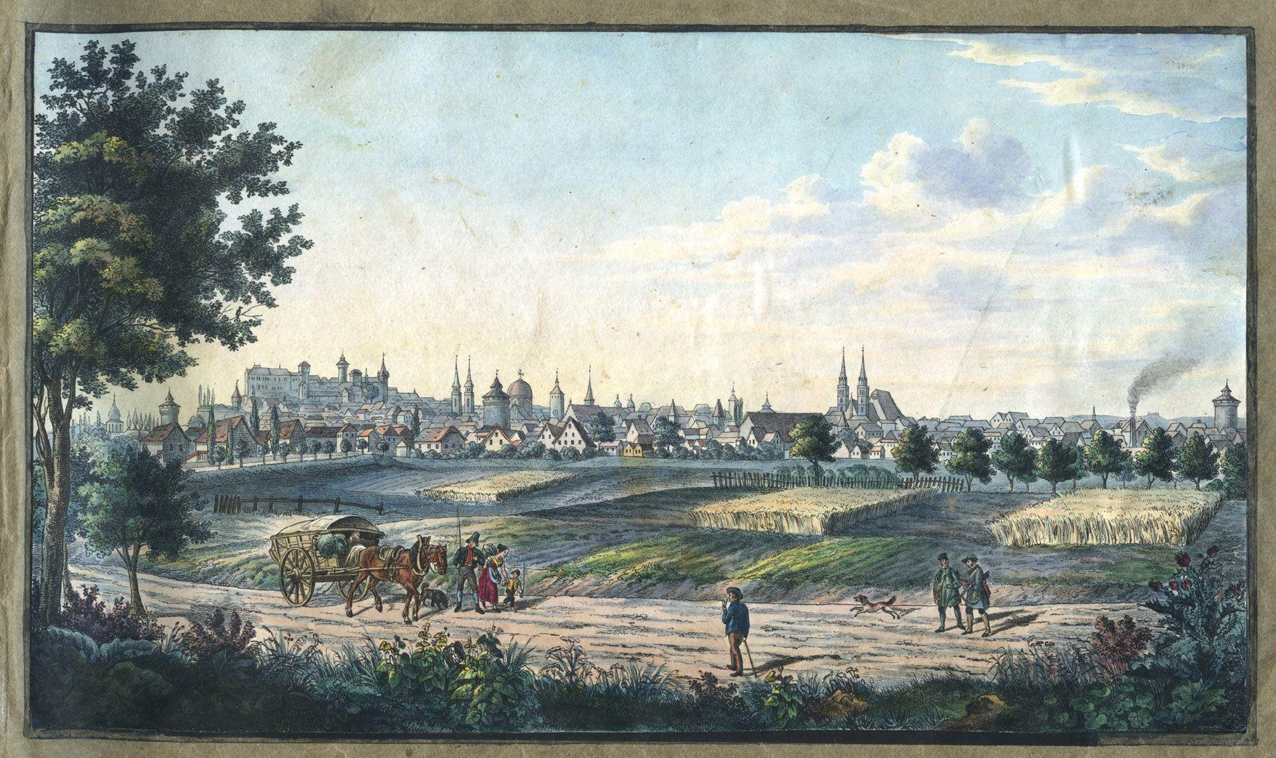 """Ansichten von Nürnberg und seinen Umgebungen """"Nürnberg gegen Mittag"""""""