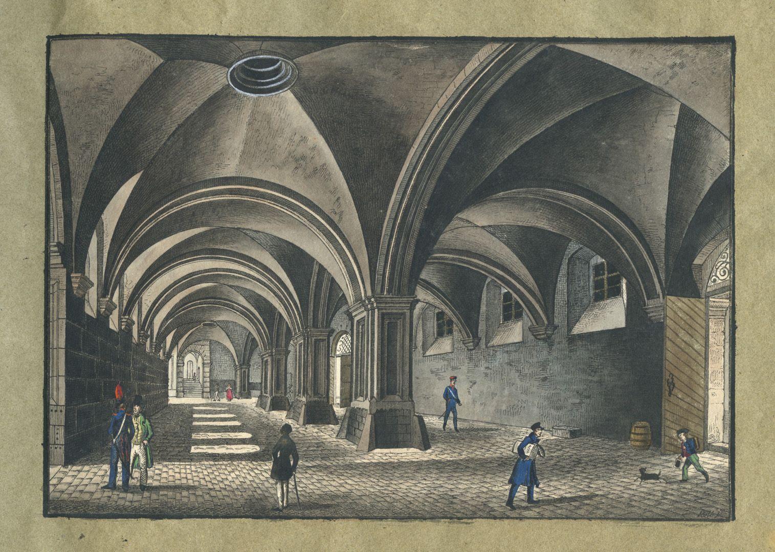 """Ansichten von Nürnberg und seinen Umgebungen """"Rathhaushalle in Nürnberg"""""""