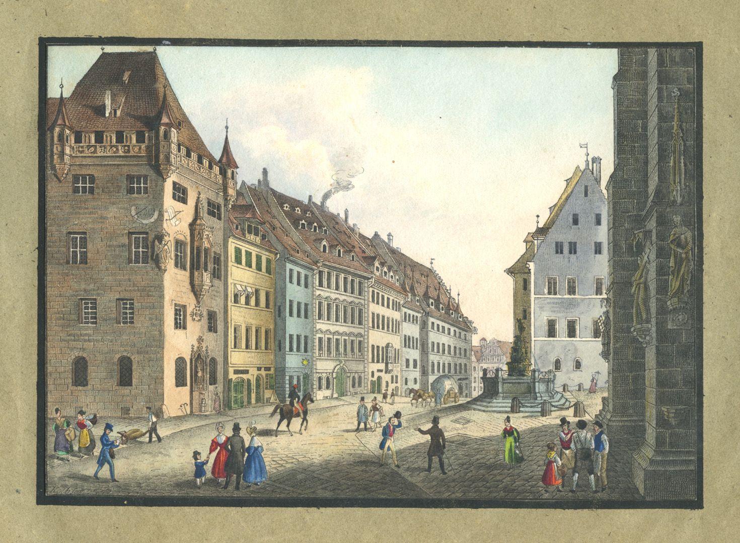 """Ansichten von Nürnberg und seinen Umgebungen """"Das Nassauer Haus in Nürnberg"""""""