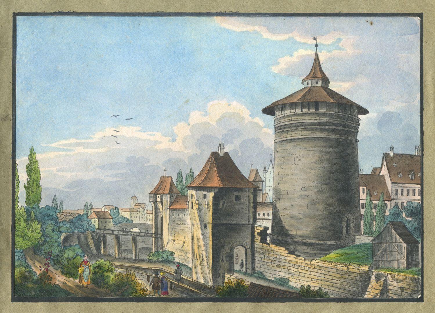 """Ansichten von Nürnberg und seinen Umgebungen """"Das Frauenthor zu Nürnberg"""""""