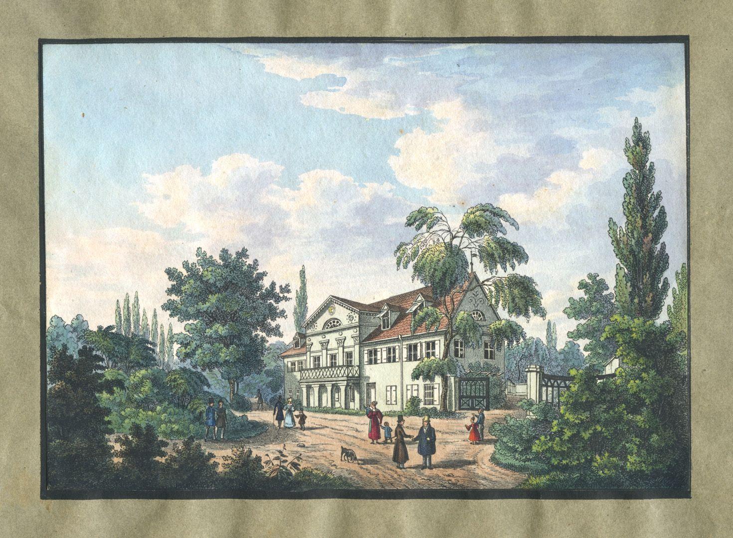 """Ansichten von Nürnberg und seinen Umgebungen """"Platners Garten bei Nürnberg"""""""