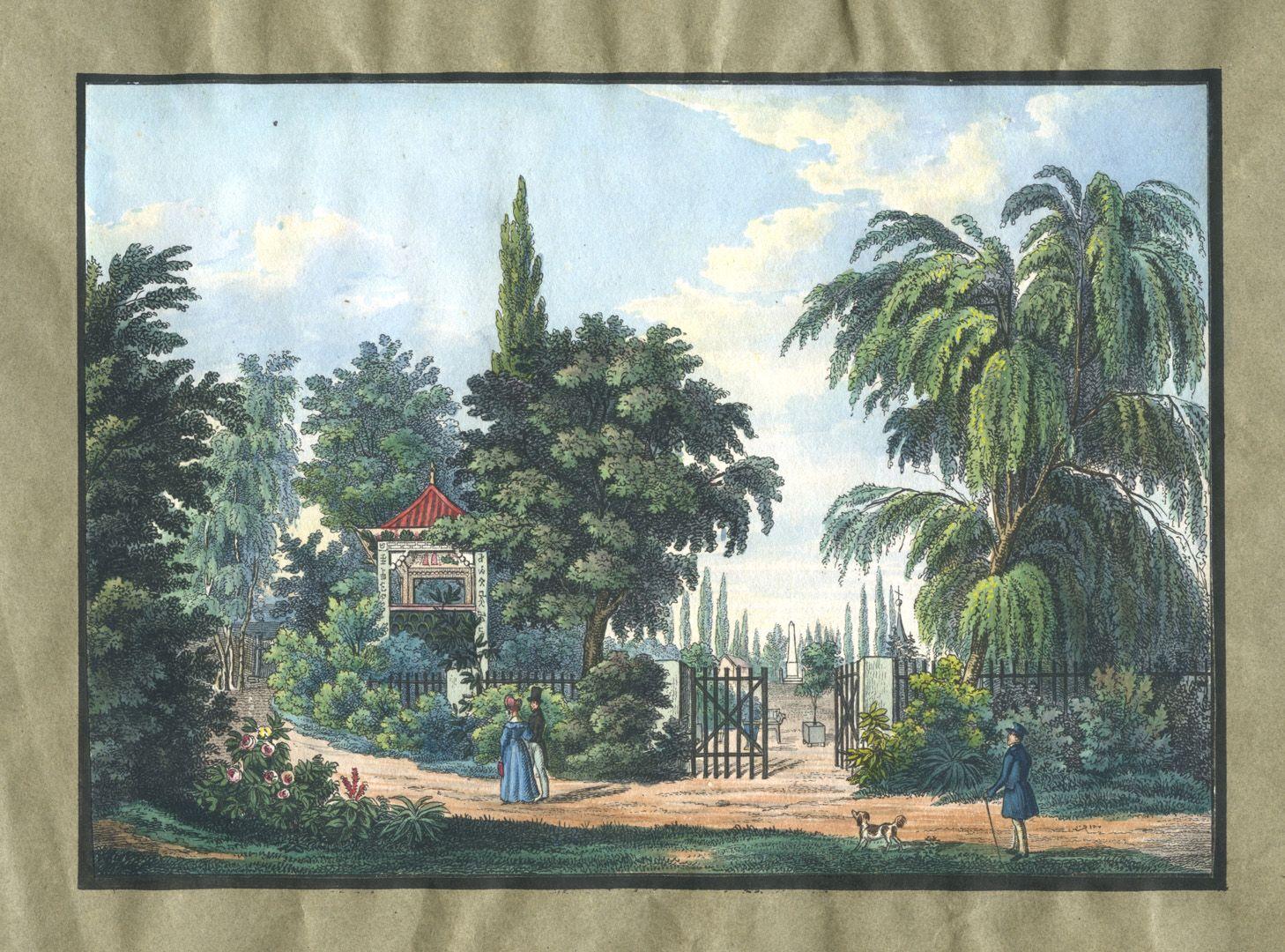 """Ansichten von Nürnberg und seinen Umgebungen """"Chinesischer Pavillion in Platners Garten bei Nürnberg"""""""