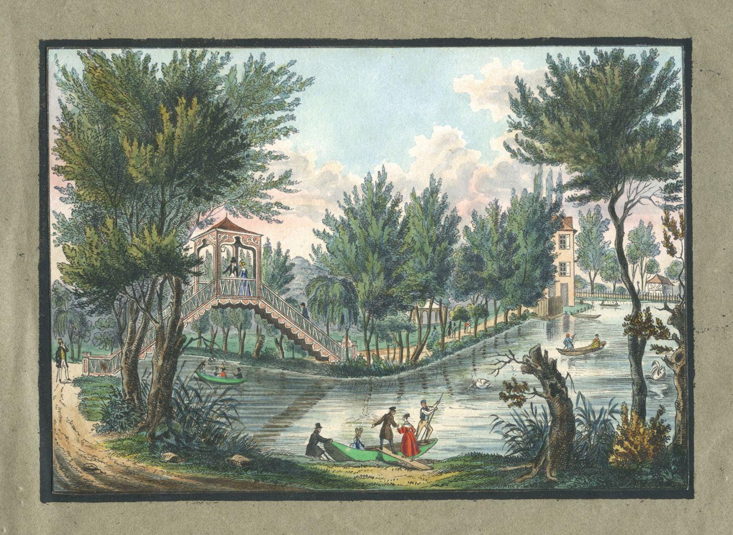 """Ansichten von Nürnberg und seinen Umgebungen """"Die Brücke der Rosenau bei Nürnberg"""""""