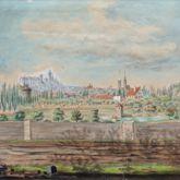 Rosenau mit Blick auf die Burg und die Sebalder Altstadt