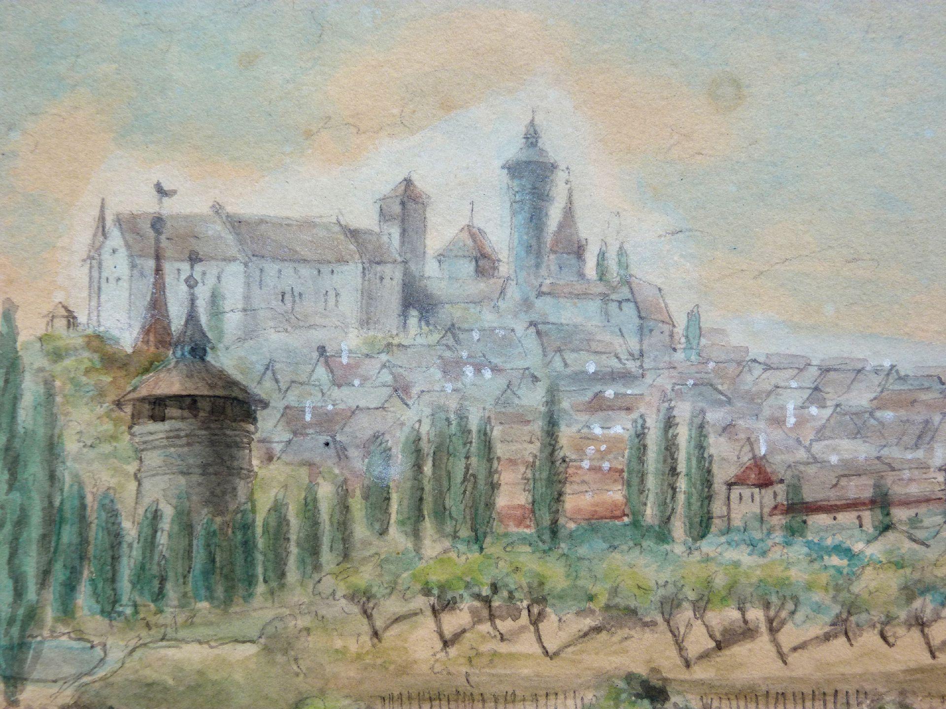 Rosenau mit Blick auf die Burg und die Sebalder Altstadt Neutoturm und Burg