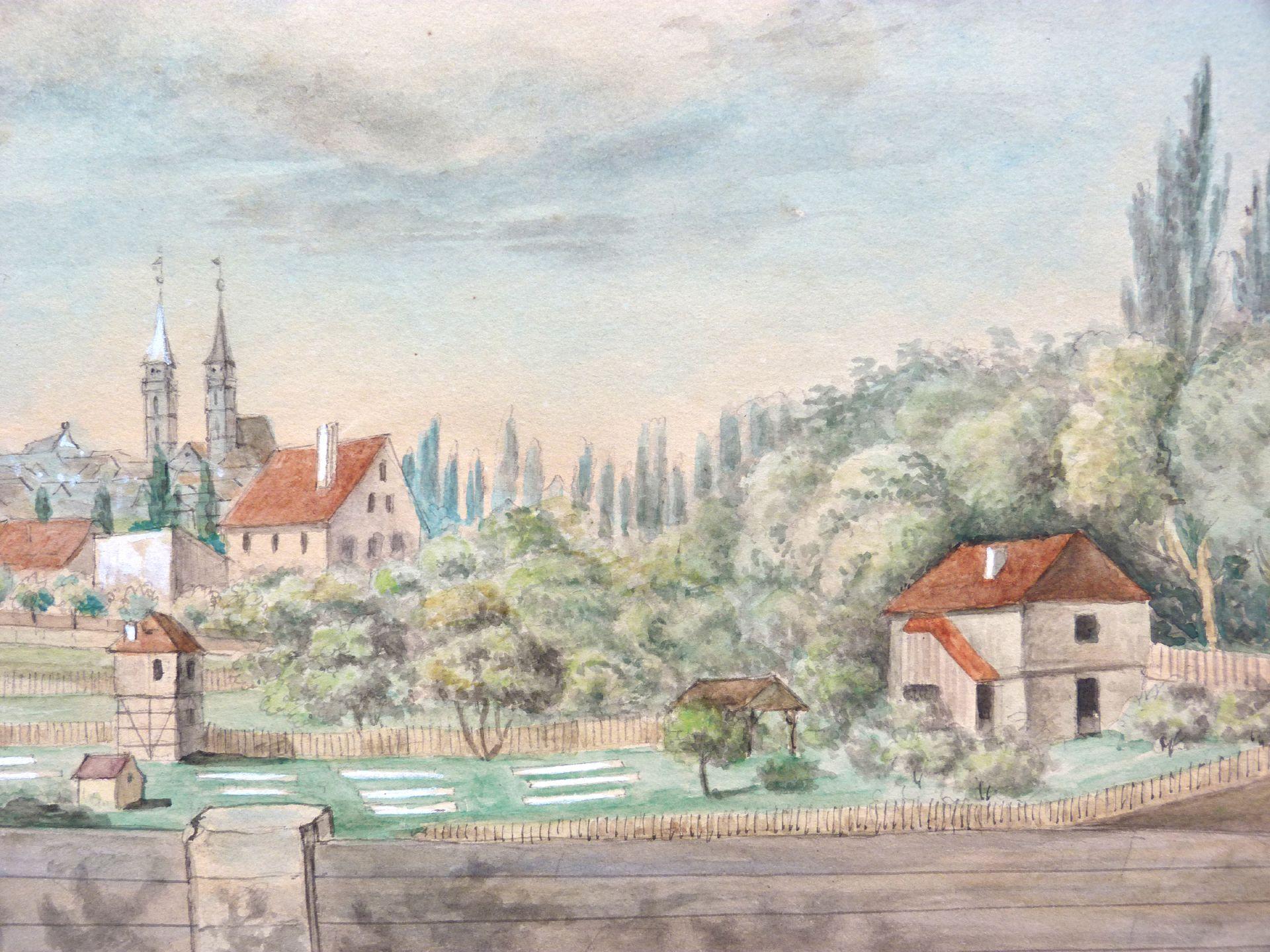 Rosenau mit Blick auf die Burg und die Sebalder Altstadt Gärten