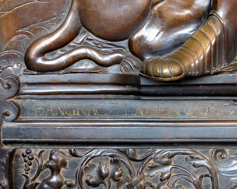 Epitaph des Gottfried Werner Graf von Zimmern (Meßkirch, Baden-Württemberg) Inschrift, BANGRACZ LABENWOLF