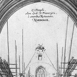 """Urbis Norimbergensis Insigniorum Templorum …"" Barfüßerkirche"