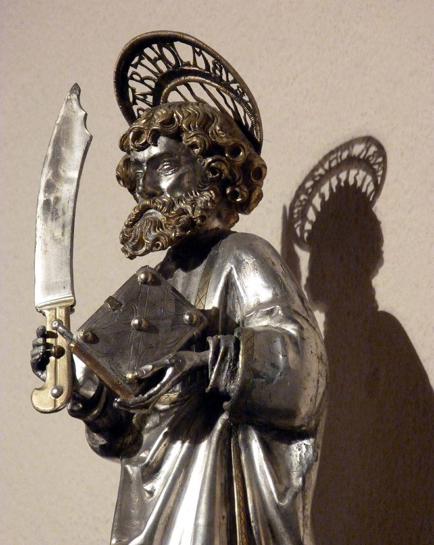St. Bartholomäus Bartholomäus mit Attributen