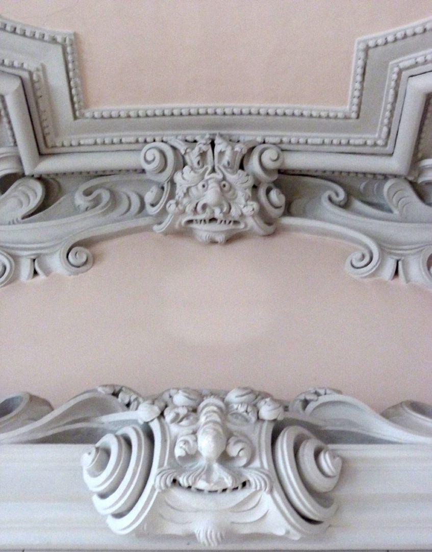 Stuckdecke im Baumeisterhaus nördliche Stirnseite, Detail