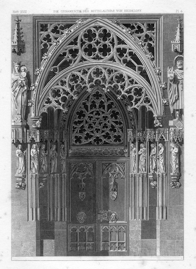 Ornamentik des Mittelalters Brautportal von St. Sebald