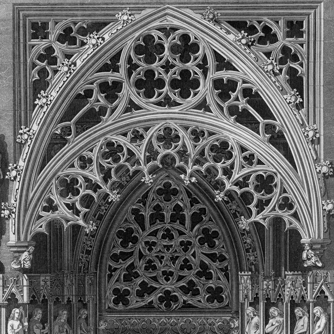Ornamentik des Mittelalters Brautportal von St. Sebald, Detail