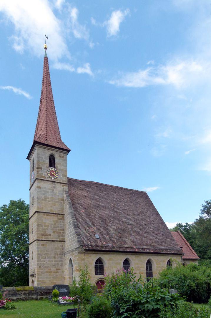 Beerbacher Altar ev. Pfarrkirche, Außenansicht