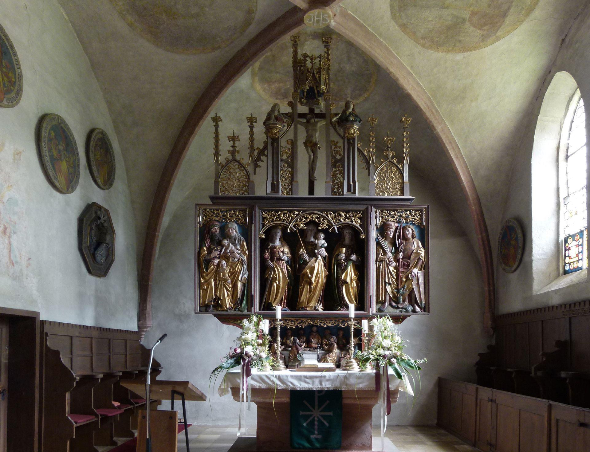 Beerbacher Altar ev. Pfarrkirche, Chorraum