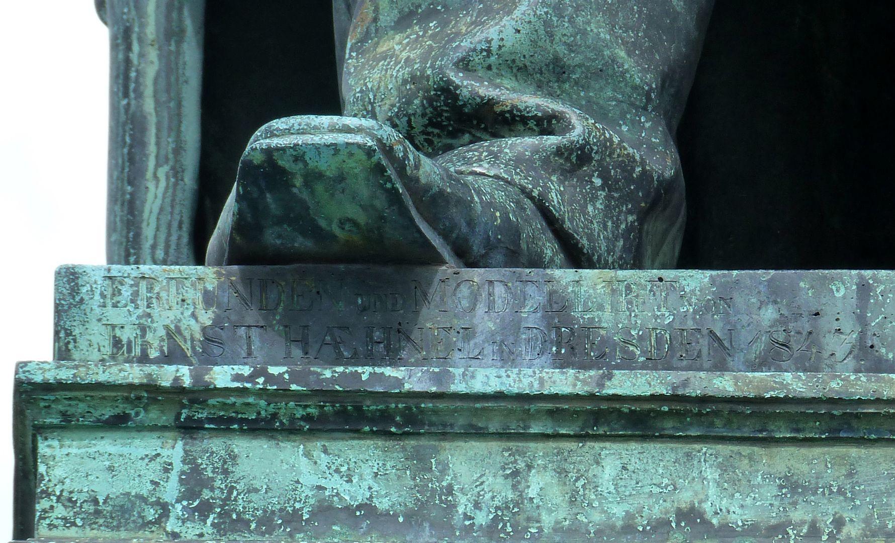 Beethoven-Denkmal (Bonn) ERFUNDEN UND MODELLIRT von ERNST HAEHNEL in DRESDEN 1843