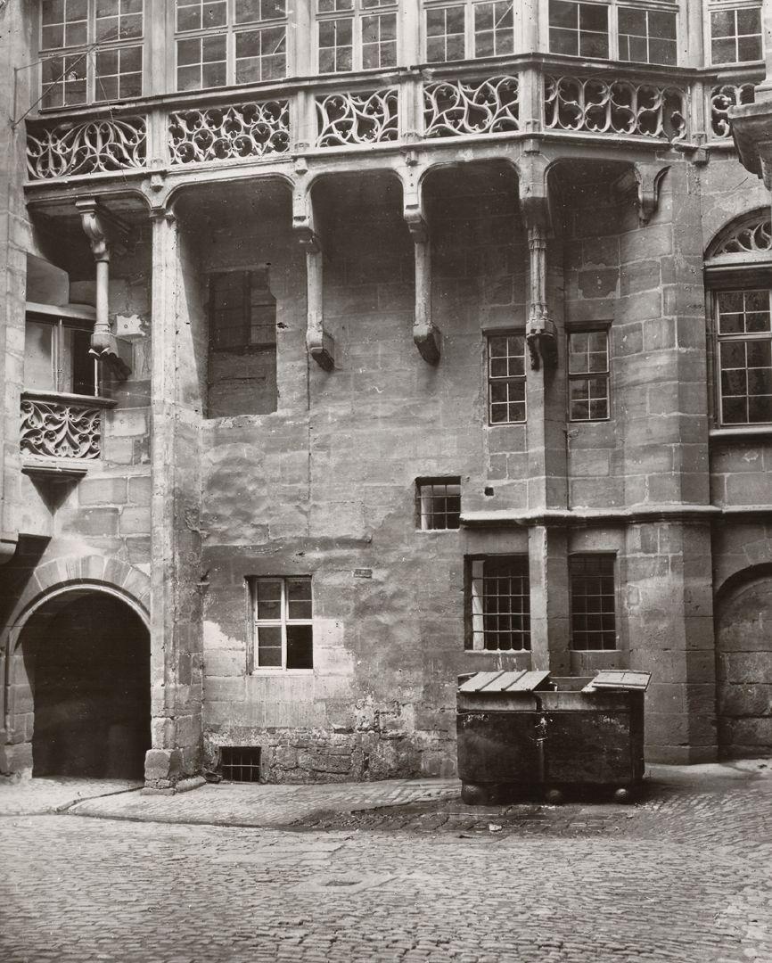 Nürnberg, Altes Rathaus, Fotodokument Großer Innenhof