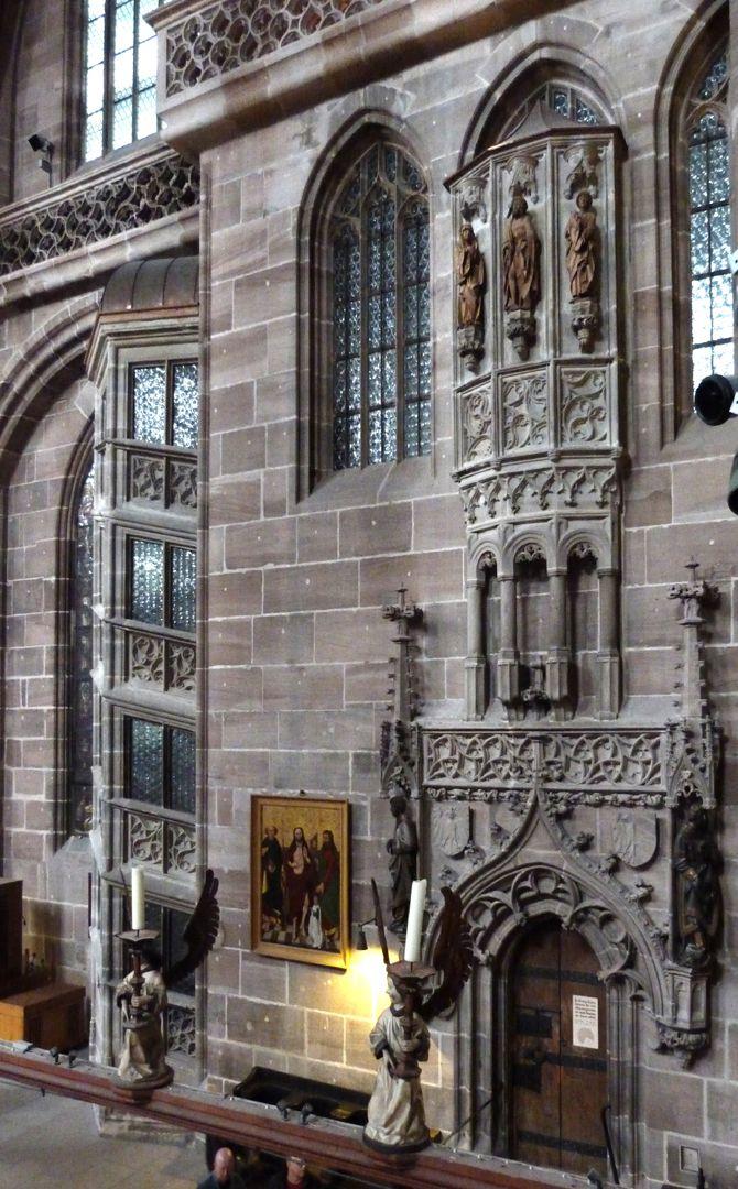 Sakristei, St. Lorenz St. Lorenz, untere und oberer Sakristei mit dem Behaimschen Flachchörlein über Ellenbogenkonsolen