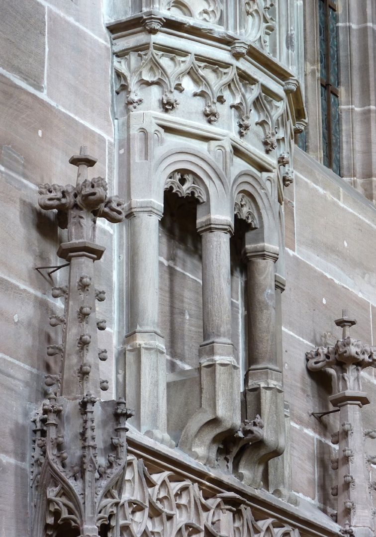 Sakristei, St. Lorenz oberer Sakristei, Detail der Ellenbogenkonsolen