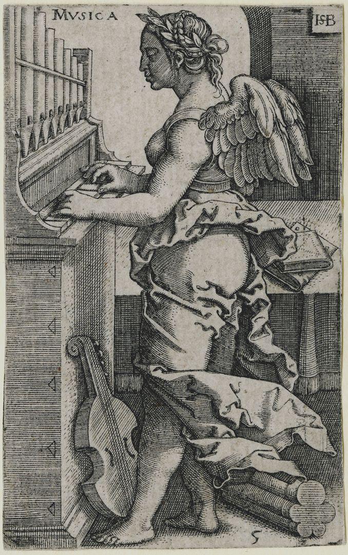 Die sieben freien Künste Musica, 89 x 55 mm