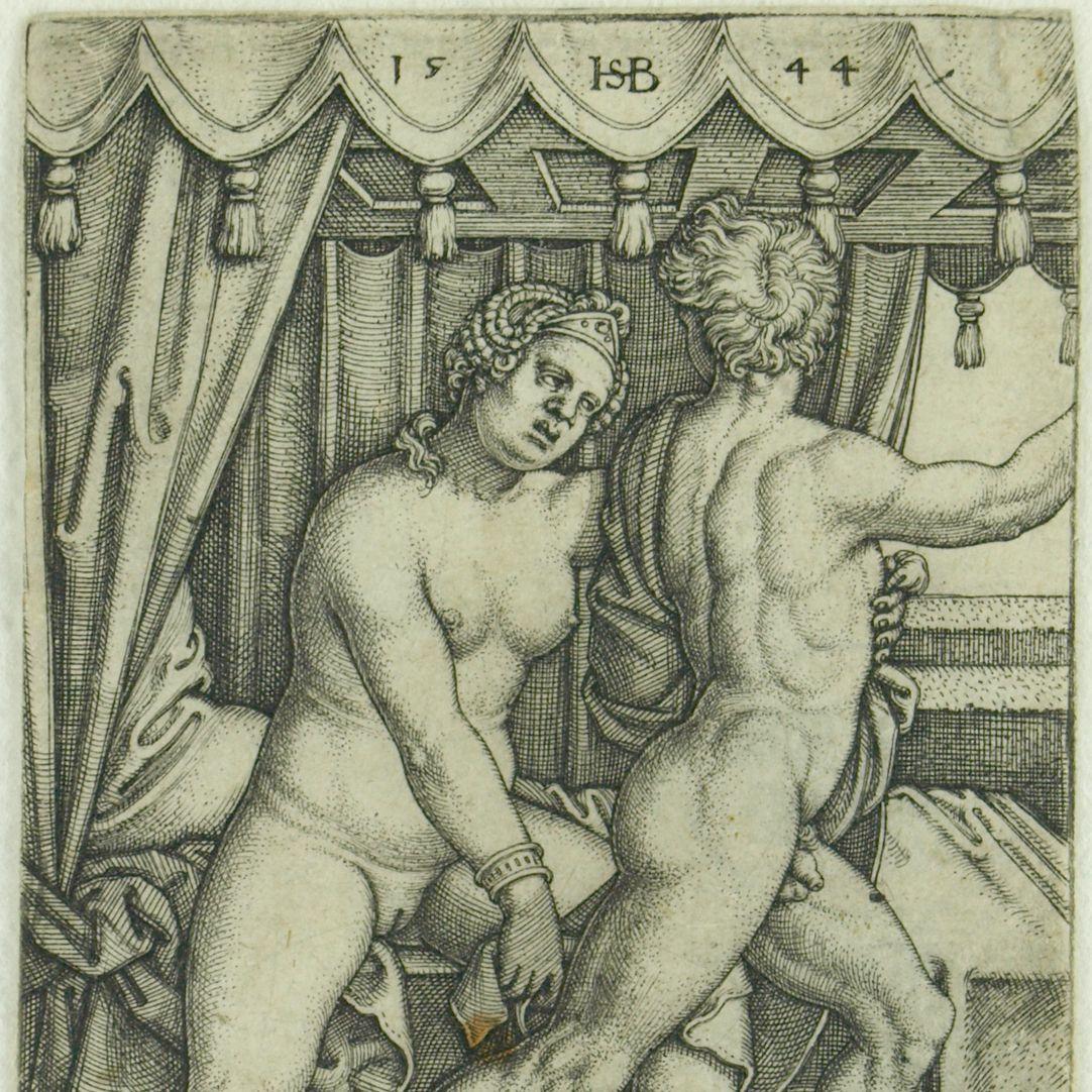 Joseph und Potiphars Weib (Der keusche Joseph) oberer Bildausschnitt