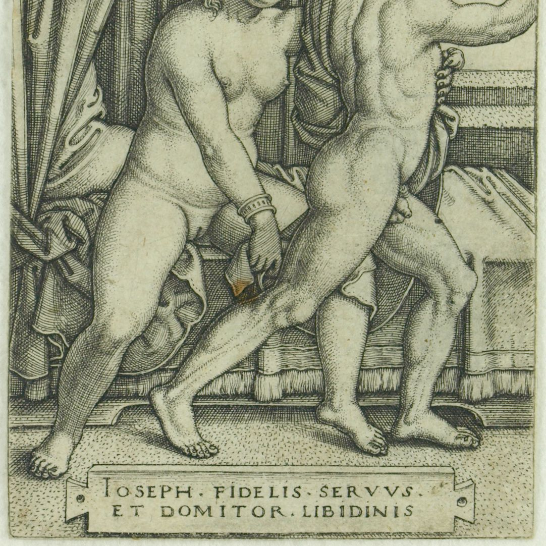 Joseph und Potiphars Weib (Der keusche Joseph) unterer Bildausschnitt