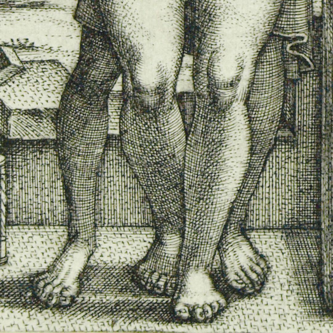 Der Tod und das Mädchen Detail, Beine