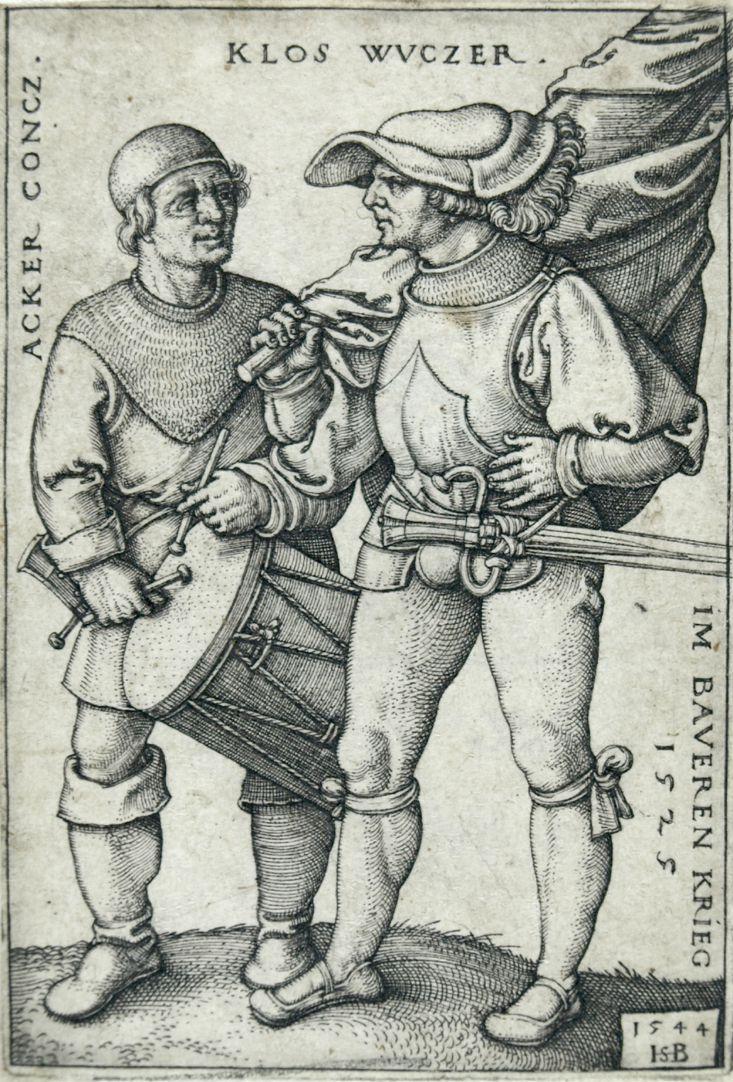Fähnrich und Trommler im Bauernkrieg von 1525