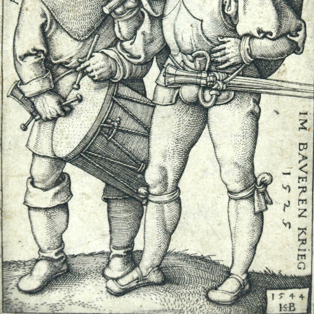Fähnrich und Trommler im Bauernkrieg von 1525 untere Bildhälfte