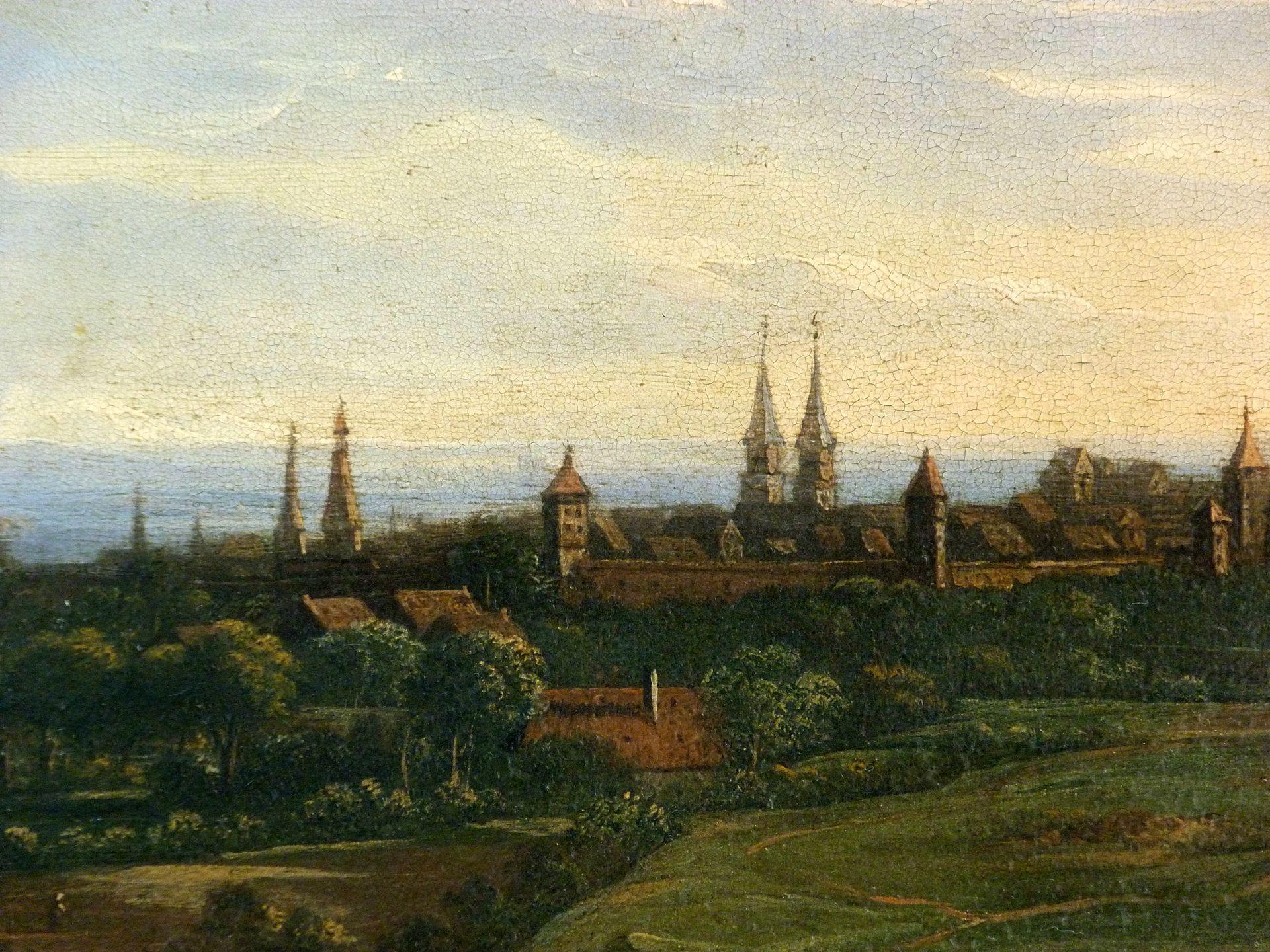 Blick auf die Stadt von Nordosten Detail mit St. Sebald