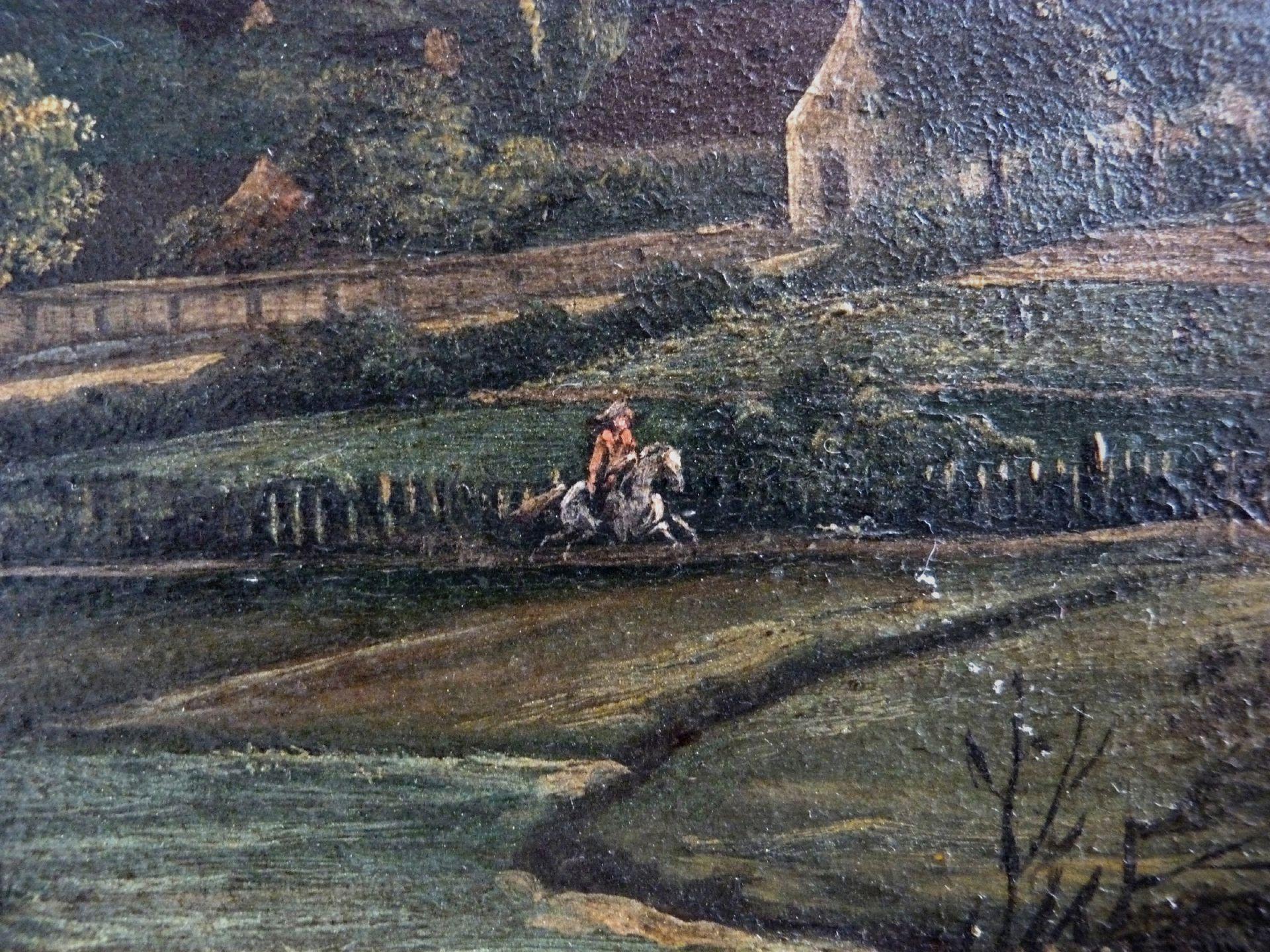 Blick auf die Stadt von Nordosten Detail mit Reiter