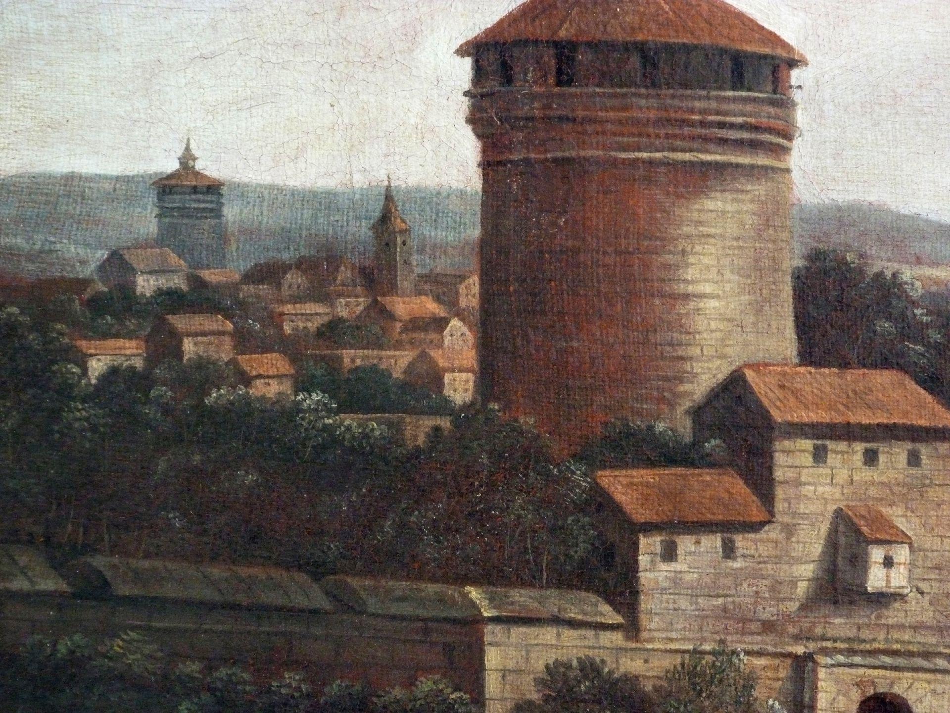 Neutor mit Bastei Detail, Blick über die Stadt