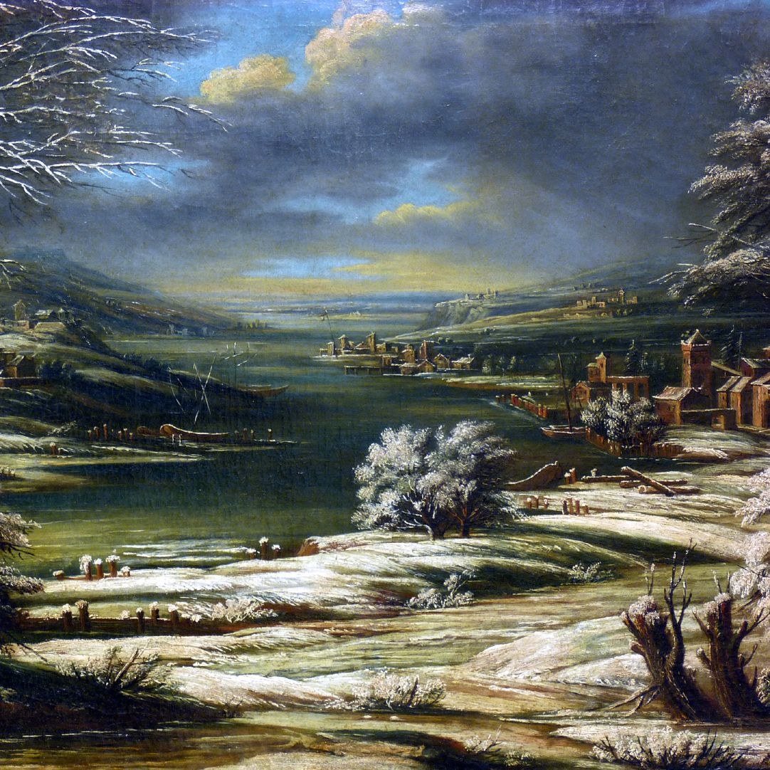 Winterlandschaft Detail der Bildmitte