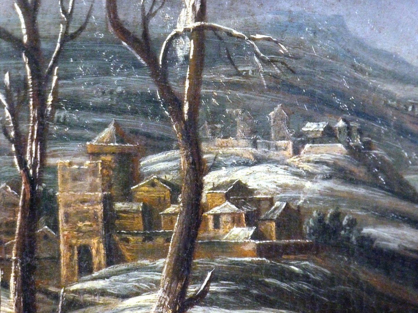Winterlandschaft Detail, mittlerer linker Bildrand