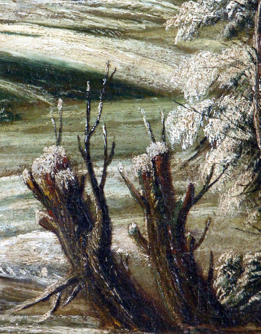 Winterlandschaft Detail mit Baumstümpfen