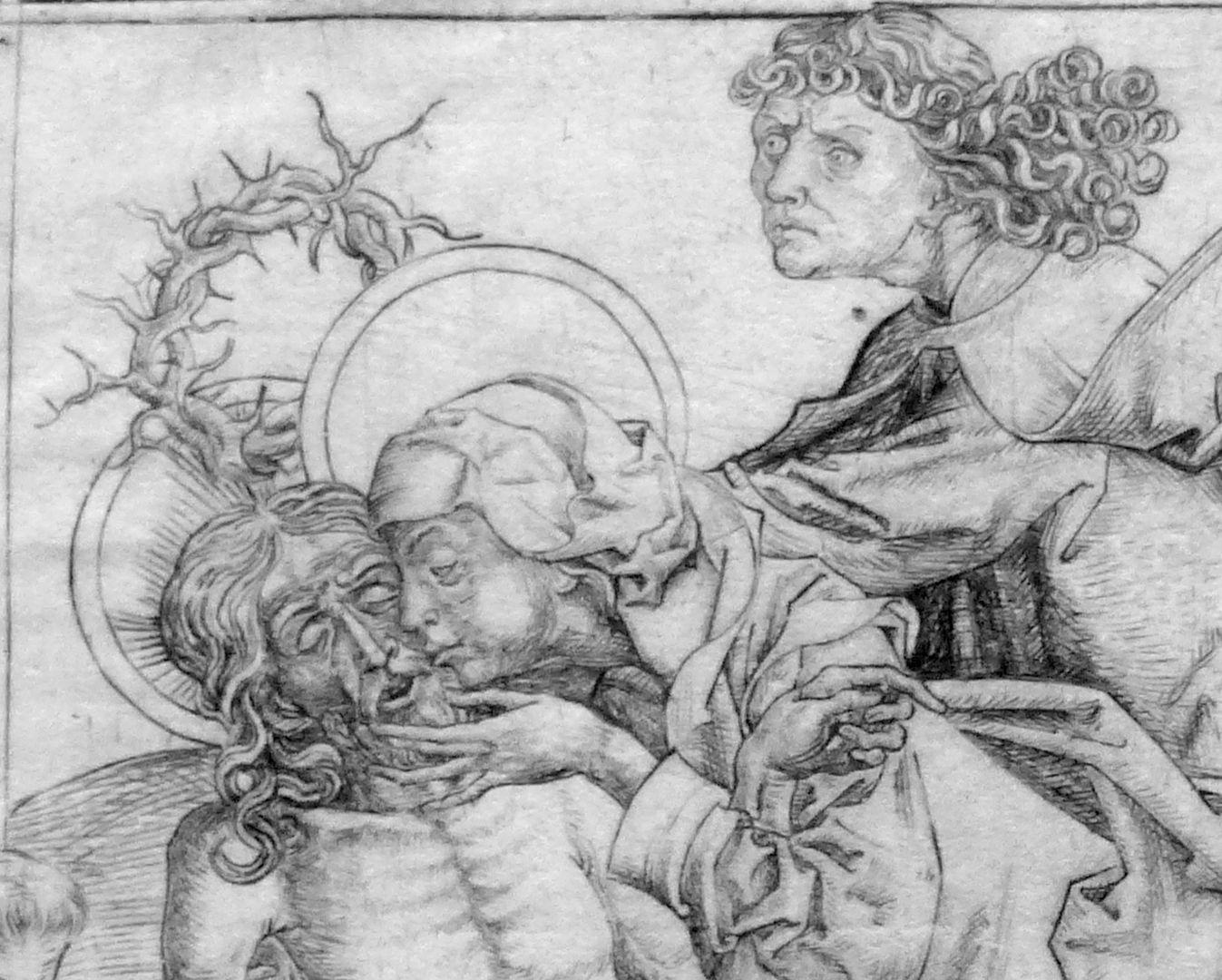 Beweinung Christi Detail der Köpfe