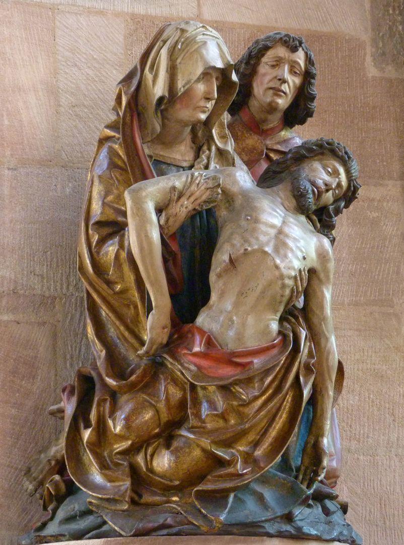 Große Pietà seitliche Ansicht von links