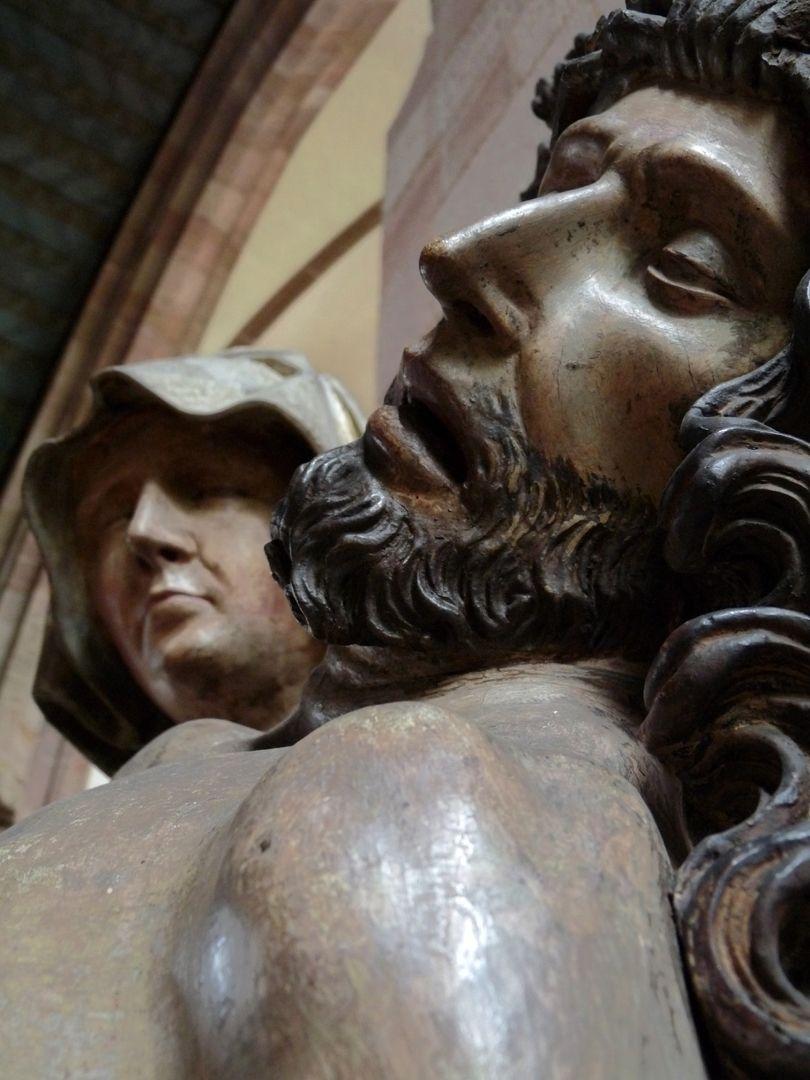 Große Pietà Haupt Jesu mit Kopf Marias
